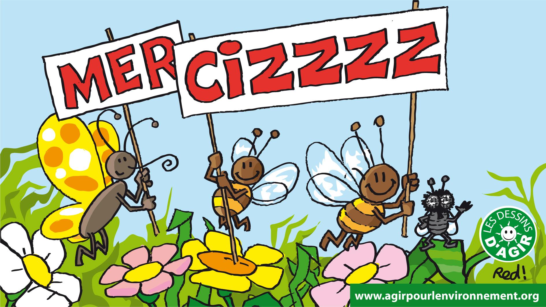 """Grâce à vous, les insecticides """"tueurs d'abeilles"""" sont interdits #mercizzz"""