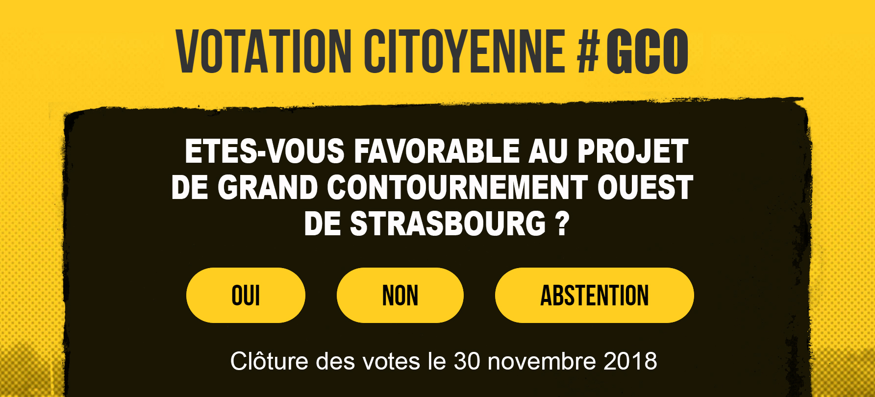 Participez maintenant à la votation citoyenne sur le Grand Contournement Ouest de Strasbourg